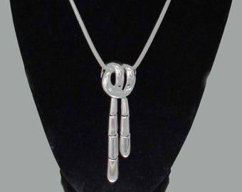 Vintage Monet Silver Tone Drop Necklace Monet Necklace Stylish Necklace Modern Necklace