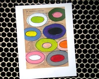 Floating Circles - Fine Art Giclee Digital Print