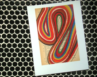 Orange Whorl - Fine Art Giclee Print