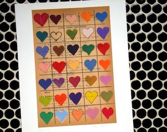 Heart Grid - Fine Art Giclee Print