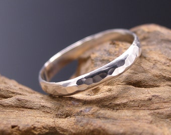 Thumb Ring Sterling Silver, Hammered or Textured.  Silver band ring.  Made to Order.