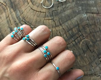 SALE Tiny Tahoe Turquoise Stacking Ring