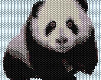 Panda Peyote stitch PATTERN