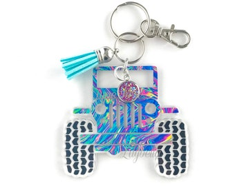 Jeep Keychain, Jeep Accessories, Acrylic Keychains, Personalized Keychain For Women, Jeep Key Ring, Jeep Wrangler Key Chain, Jeep Owner Gift