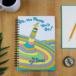 Graduation Gift - Oh The Places You'll Go Dr Suess - Recycled Book Journal Notebook