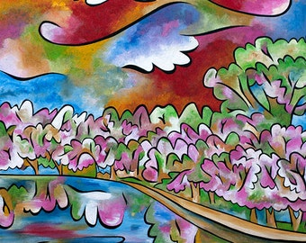 Tidal Basin Bloom 3 - Large Signed and Numbered print by Joel Traylor Joel Traylor