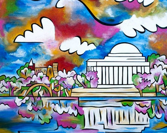Tidal Basin Bloom 2 - Large Signed and Numbered print by Joel Traylor