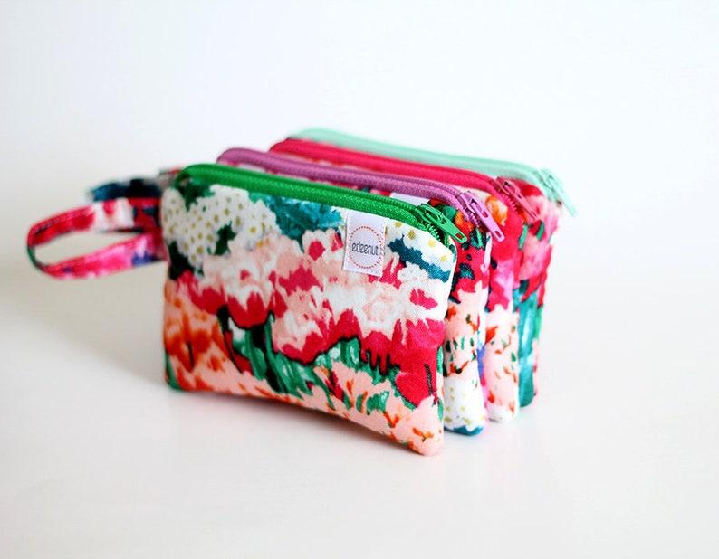 Flower zipper pouch Coin purse tulip pocket