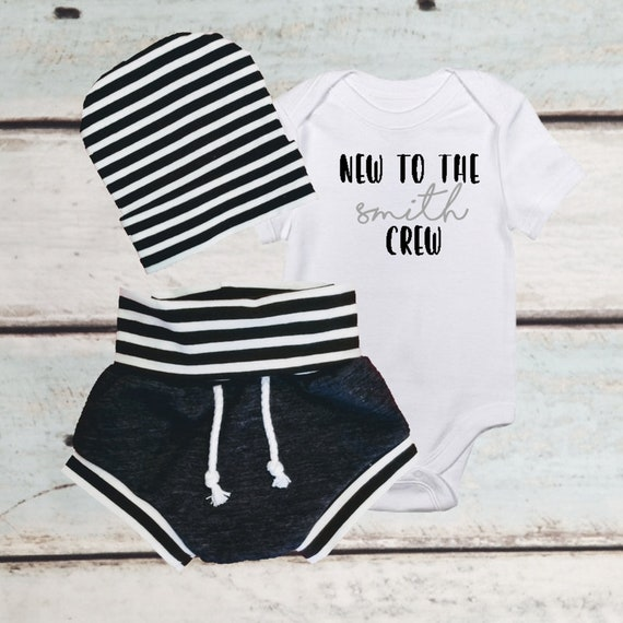 ec9bfeed272a BABY BOY Bodysuit Personalized Gift Newborn Boy Coming Home