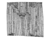 Library Doors Abstract Fine Art Archival Print of Original Pen and Ink Drawing