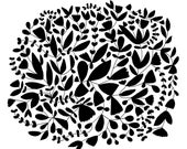 Floral Vine Fine Art Print Wall Decor Contemporary Modern Flowers Pattern BW Black and White