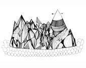 Arrow Mountain Fine Art Print