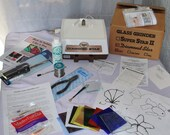 DISCOUNTED Stained Glass Beginner Kit - Glastar Grinder, Iron, Solder, cutter, Tools, Instructions, Glass to make sun-catchers