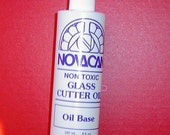 CUTTING OIL for Glass Cutter by Novacan 8 ounce (237ml) bottle - Formulated Especially GLASS