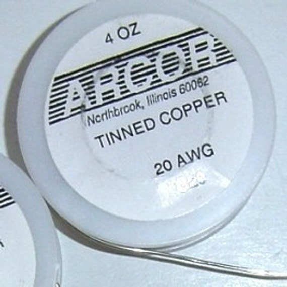 4 oz roll of 20 gauge Tinned silver color Copper Wire. You   Etsy