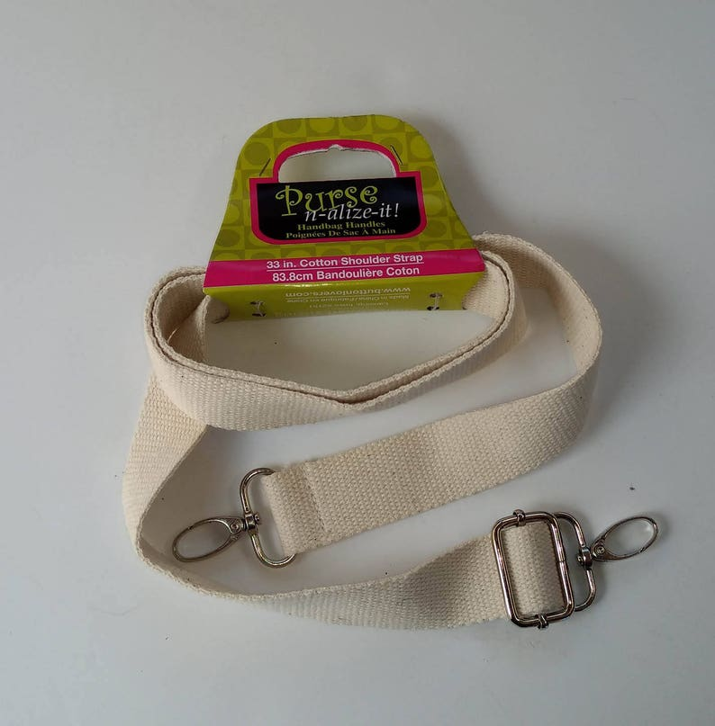 fe9b98666e Cotton Shoulder Strap Purse-n-alize it Purse strap bag