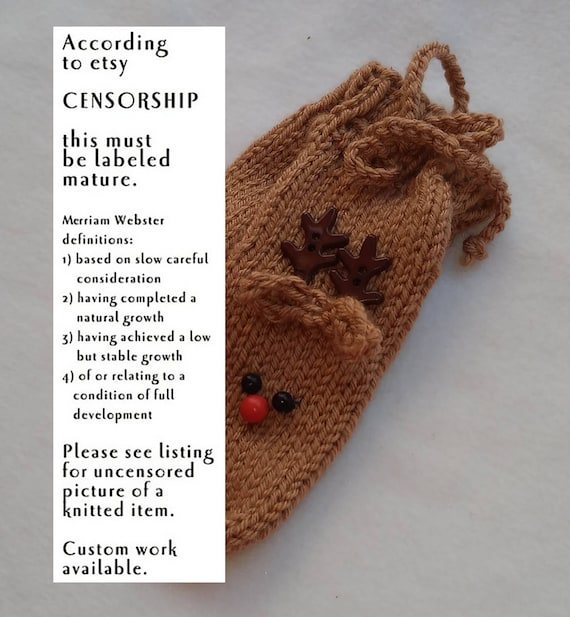 Reindeer Willie Warmer Penis Cozy Knitted Willy Warmer