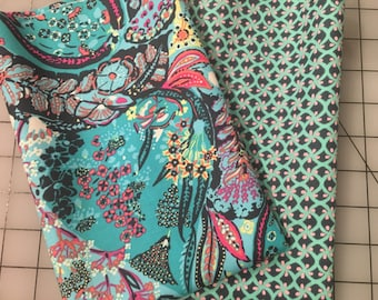 Amy Butler Glow cotton fabric collection green pink blue half yard bundle from shereesalchemy