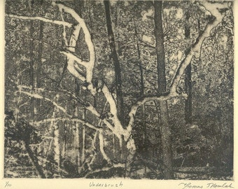 UNDERBRUSH  etching limited edition signed and numbered