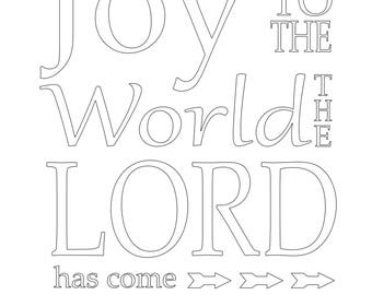 Joy coloring page etsy joy to the world coloring page publicscrutiny Gallery