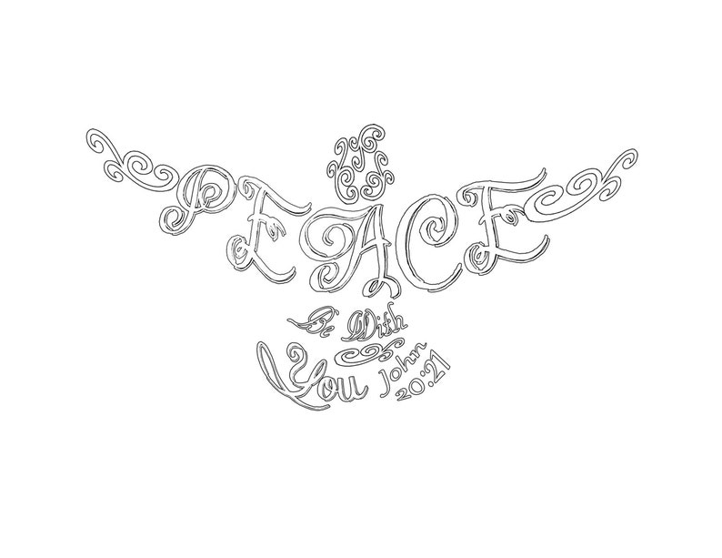 Peace Dove Coloring Page John 20 21 Etsy