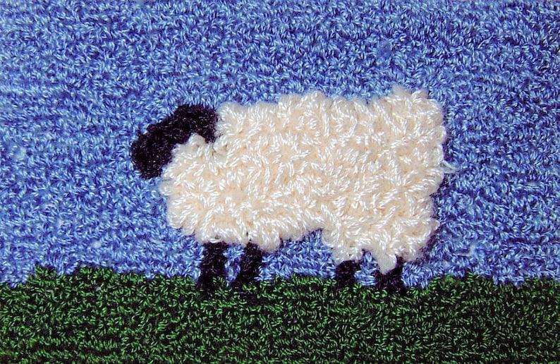 EWE  Miniature Punch Needle Embroidery PATTERN image 0