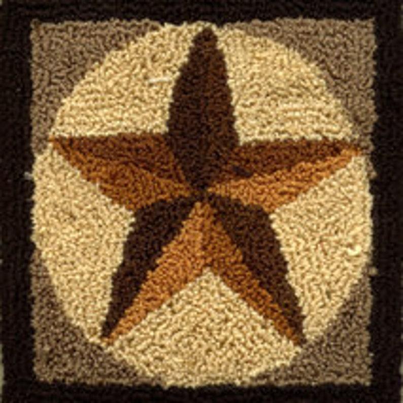 Barn Star  Miniature Punch Needle Embroidery PATTERN image 0