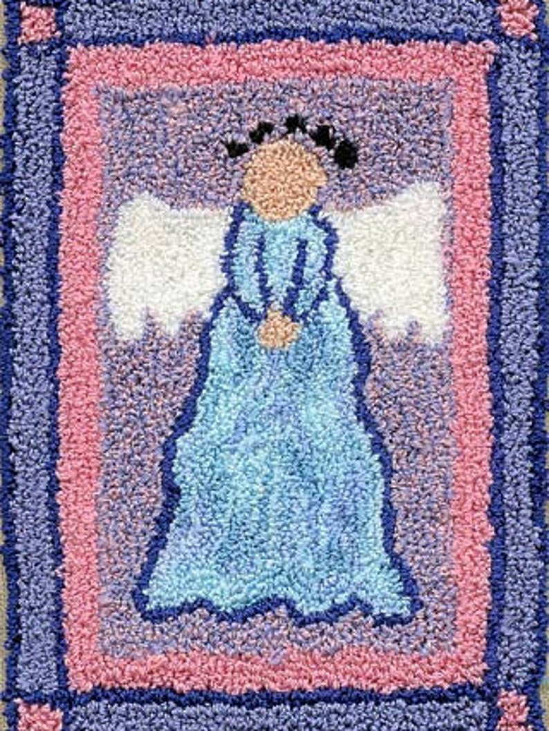 Angel  Miniature Punch Needle Embroidery PATTERN image 0