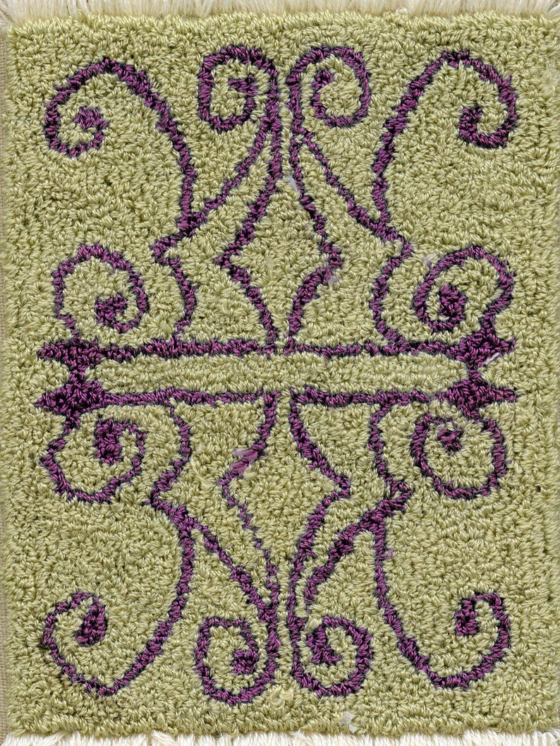 Iron Rug  Miniature Punch Needle Embroidery Doll House Rug image 0