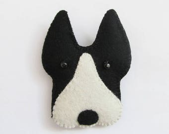 BILLY - The Boston Terrier Felt Brooch - Popular Dog - Accessory - Pin - Gift For Dog Owners