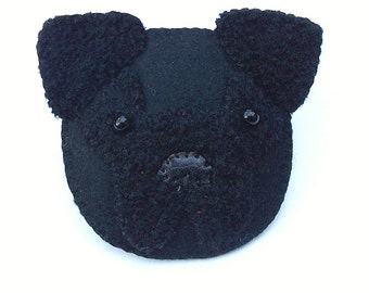 PERCY - Felt Brooch - Cute Pug Dog Puppy - Accessory - Pin - Gift Idea For Dog Lovers