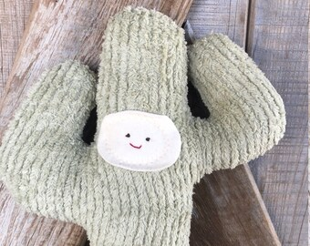 Cactus Doll Saguaro Waldorf Eco Kids Toy Plush Nature Fun Nursery Decor