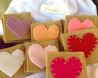 Heart Eco Kids Toy Valentine Educational Toy Memory Game Natural Eco Friendly Waldorf Learning Back to School