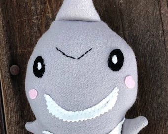 Shark Stuffed Animal, Toy Soft Doll, Plush, Natural Eco Friendly Ocean Fish