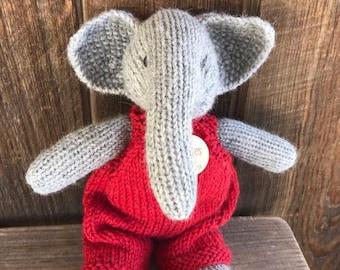 Elephant Eco Kids Toy Stuffed Animal Natural Eco Friendly Heirloom Quality Ready to Ship