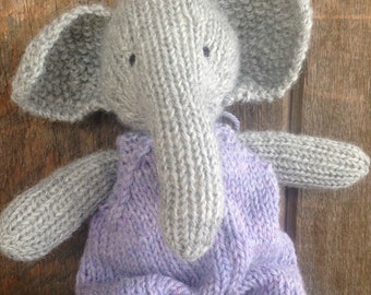 Elephant Eco Kids Toy Stuffed Animal Natural Eco Friendly Heirloom Quality