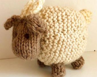 Goat Eco Kids Toy Stuffed Animal Natural Eco Friendly Barnyard Friend