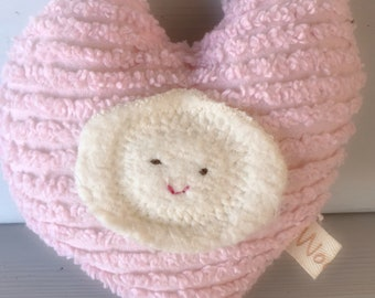 Plush Heart Natural Toy Eco Kids Baby Shower Gift Child Lovey Pillow