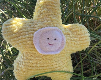 Flower Doll -  Plush Toy - Eco Kids -  Natural - Petal - Toddler - READY TO SHIP