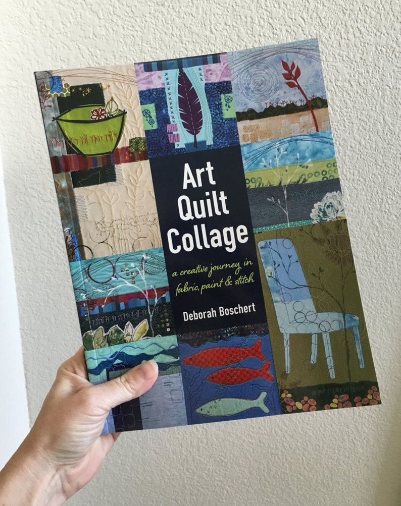 Signed Copy  Art Quilt Collage: A Creative Journey in image 0
