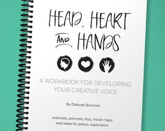 PDF Head, Heart and Hands: Developing Your Creative Voice Artist Workbook, Download, exercises, to do list, prompts, marketing, lessons