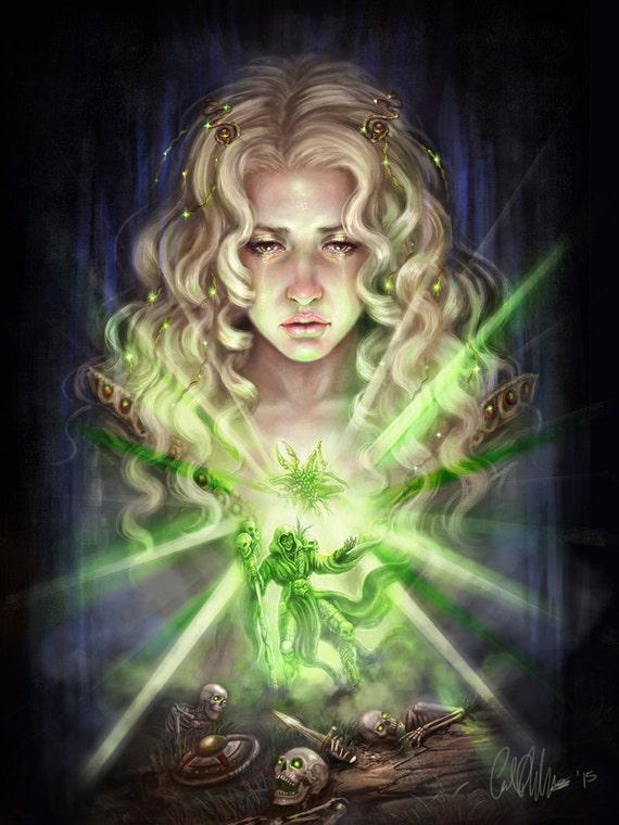 Fantasy Art Elf Necromancer