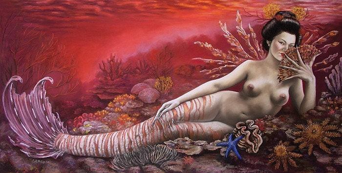 Asian Mermaid Nude