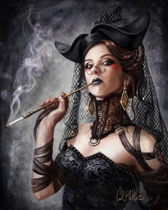 Fantasy Character Art Sci fi Fantasy Art female portrait | Etsy