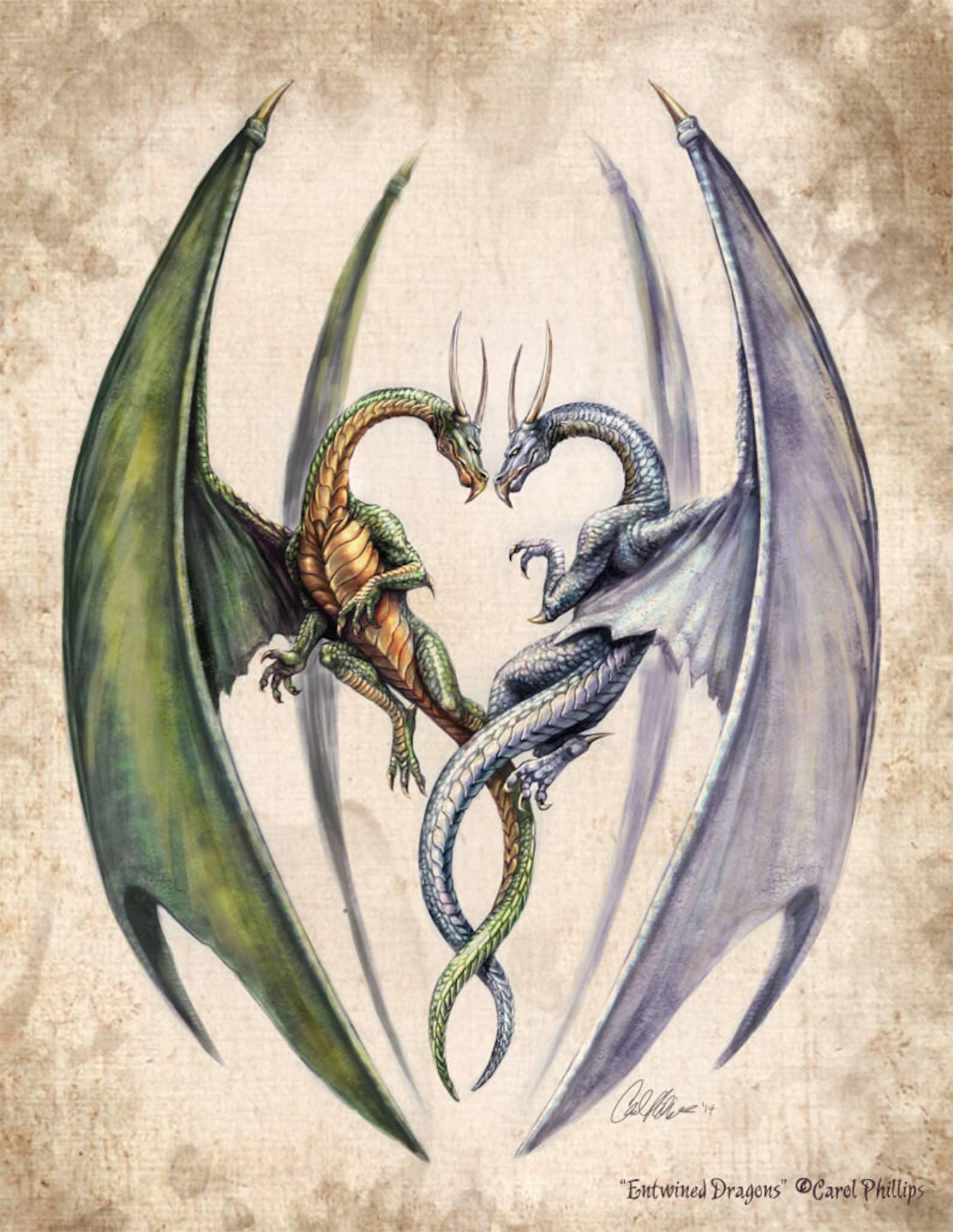 дракон близнец картинка образом