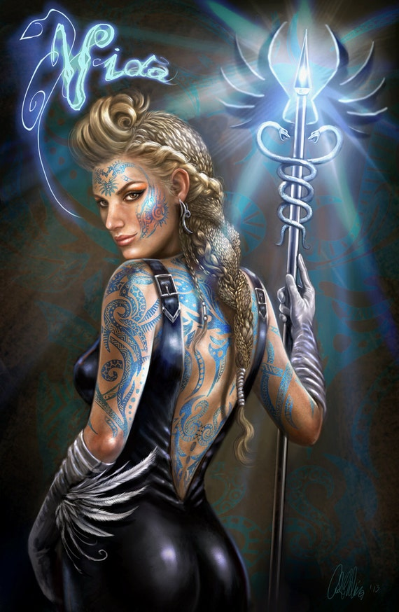 Sci Fi Fantasy Limited Character Fine Art Print Magic Cleric Etsy