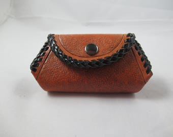 Hand Tooled Leather Change Purse