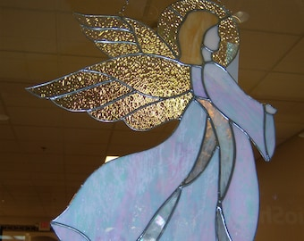 Stained Glass Angel Etsy