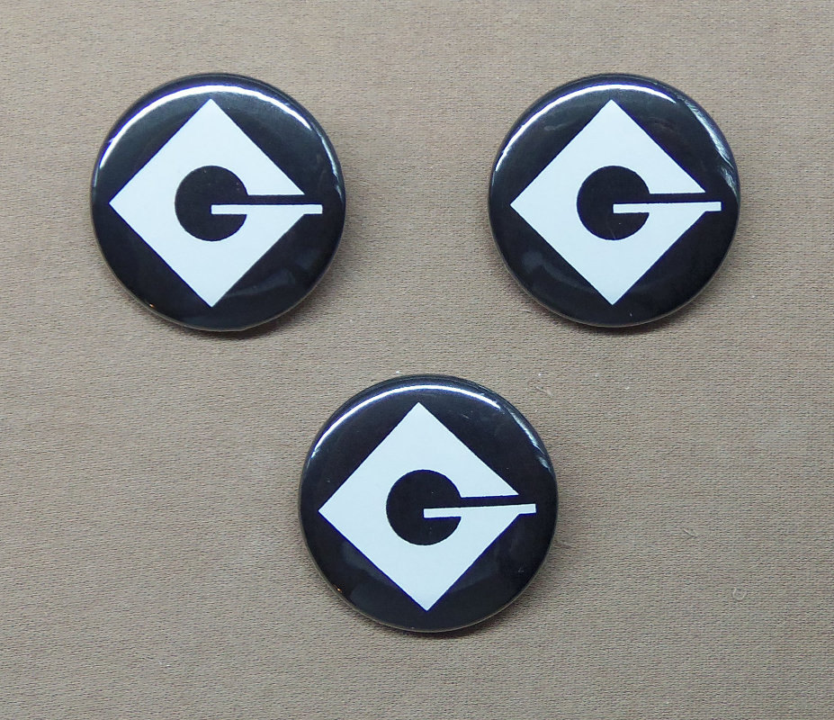 Despicable Me Set Of Three Gru Logo Buttons 125 Minions Etsy