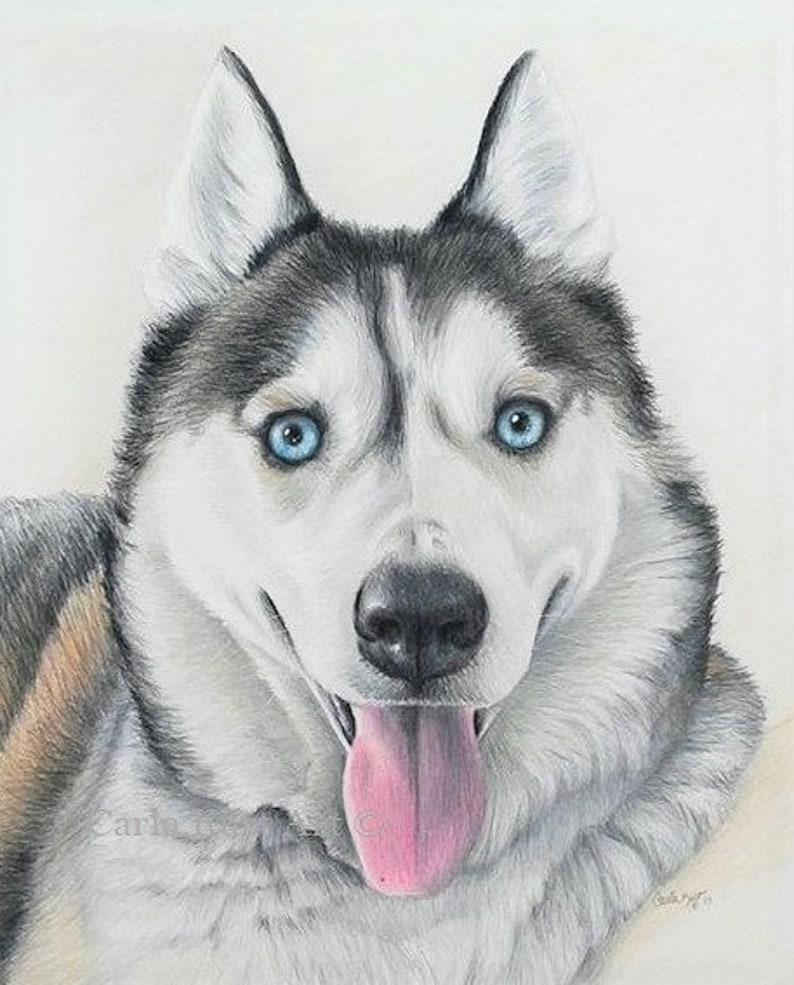 abb487da733e CUSTOM HAND-DRAWN Dog Pet PortraiT pet memorial dog portrait | Etsy